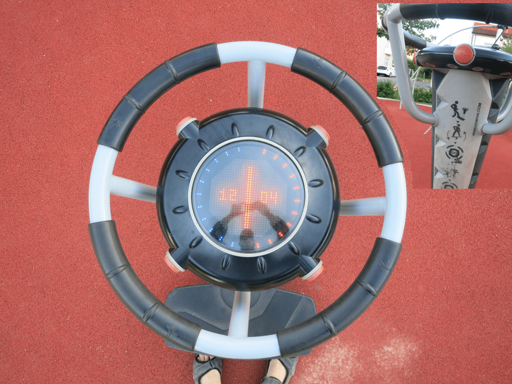 """The """"control wheel"""" of the play ground."""