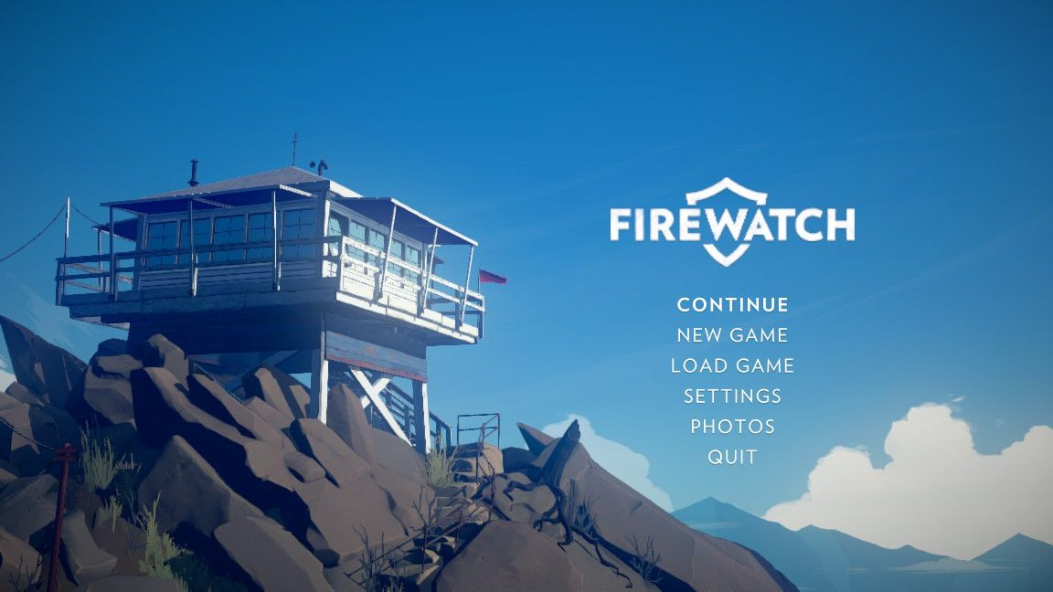 Firewatch Start Screen