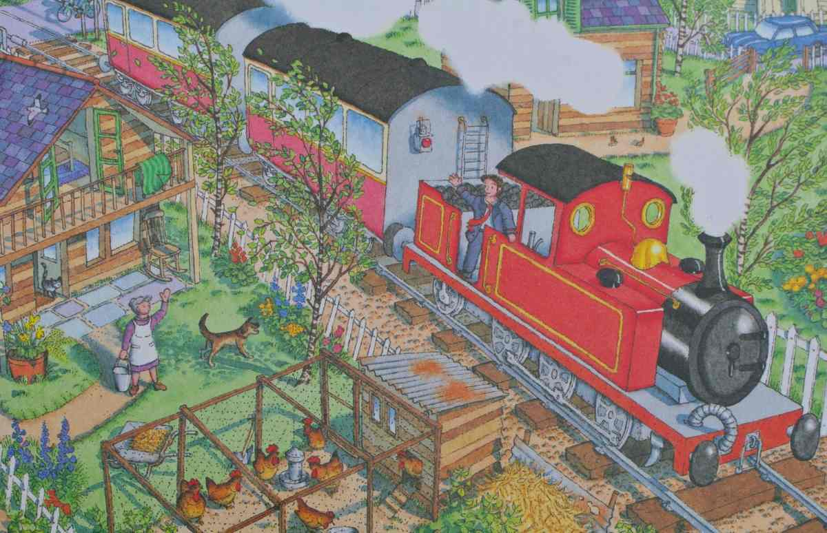 little red train detail