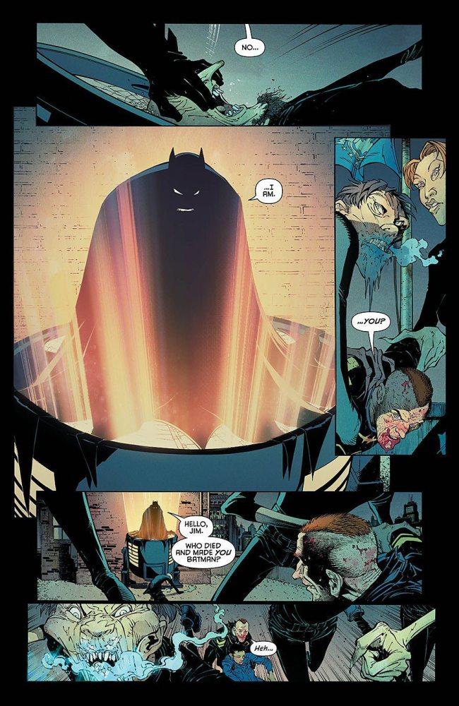The Batmen meet, from Batman #50, copyright DC Comcis