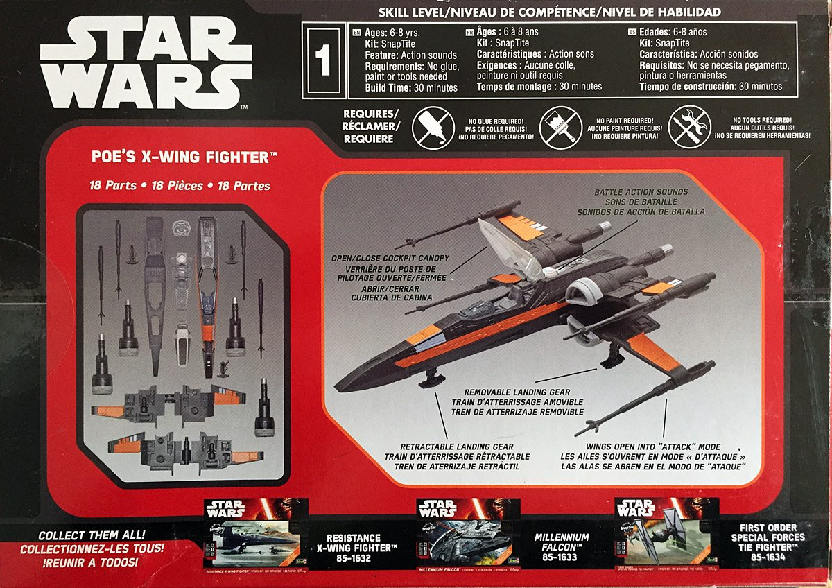 Revell X-Wing Box Back