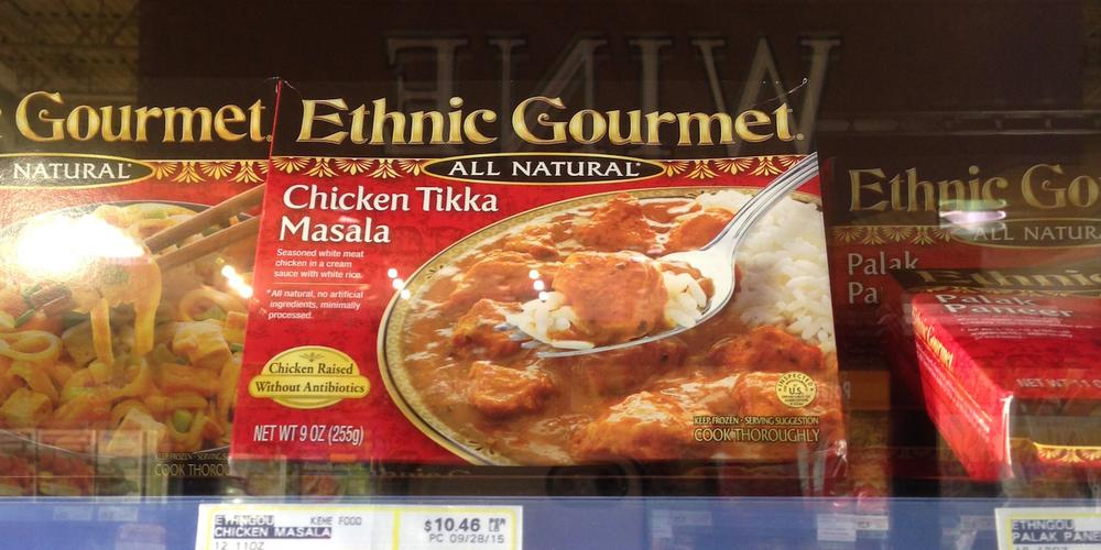 Indian frozen meal