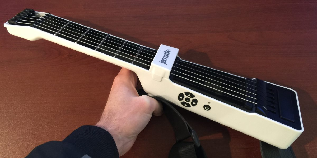 The jamstik+ from an angle, showing its buttons.