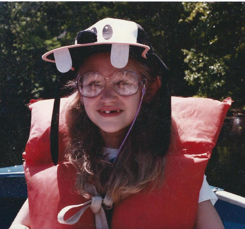 Me at my dorkiest (age eight). And I'm still pretty darn cute. Image courtesy Amy Weir, but it was probably taken by my dad.