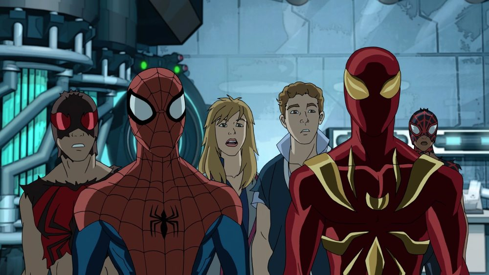"""MARVEL'S ULTIMATE SPIDER-MAN VS. THE SINISTER 6 - """"Lizards"""" - Vulture's revelation that Doc Ock has a spy inside S.H.I.E.L.D. Academy leads the Web Warriors on a hunt to find the mole. This episode of """"Marvel's Ultimate Spider-Man VS. The Sinister 6"""" airs Sunday, March 13 (9:00 - 9:30 A.M. EDT) on Disney XD. (Marvel) SCARLET SPIDER, SPIDER-MAN, JEMMA SIMMONS, LEO FITZ, IRON SPIDER, MILES MORALES"""