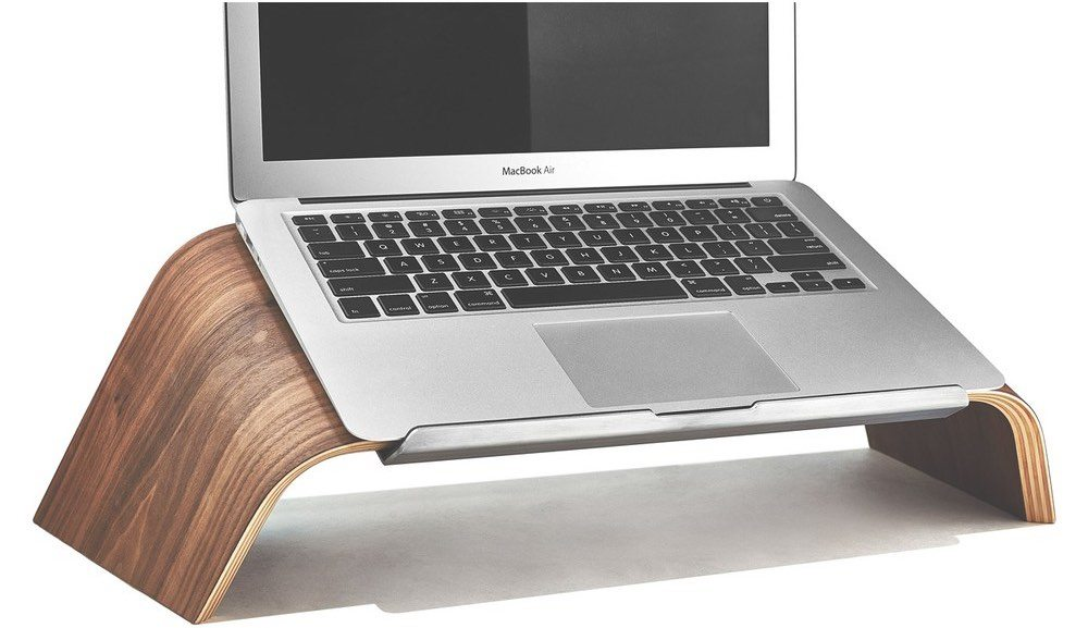 Grovemade laptop stand is ergonomicall angled