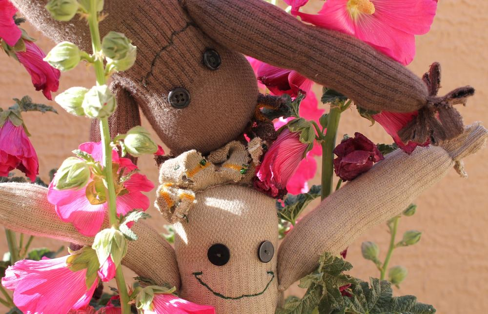 """Cut little strips in Groot's """"head and fingers,"""" then add a few beads to give him some """"leaves."""""""