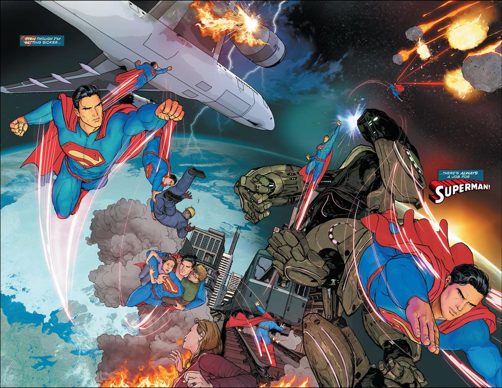 Janin's splash page for Superman #51, copyright DC Comics