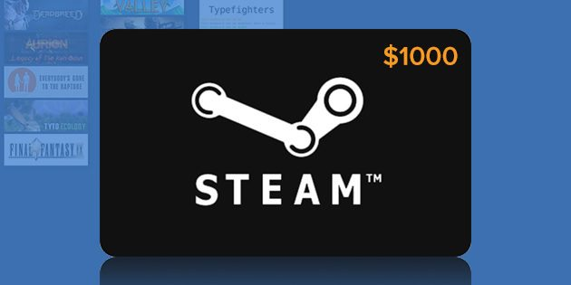 The $1000 Steam Gift Card Giveaway