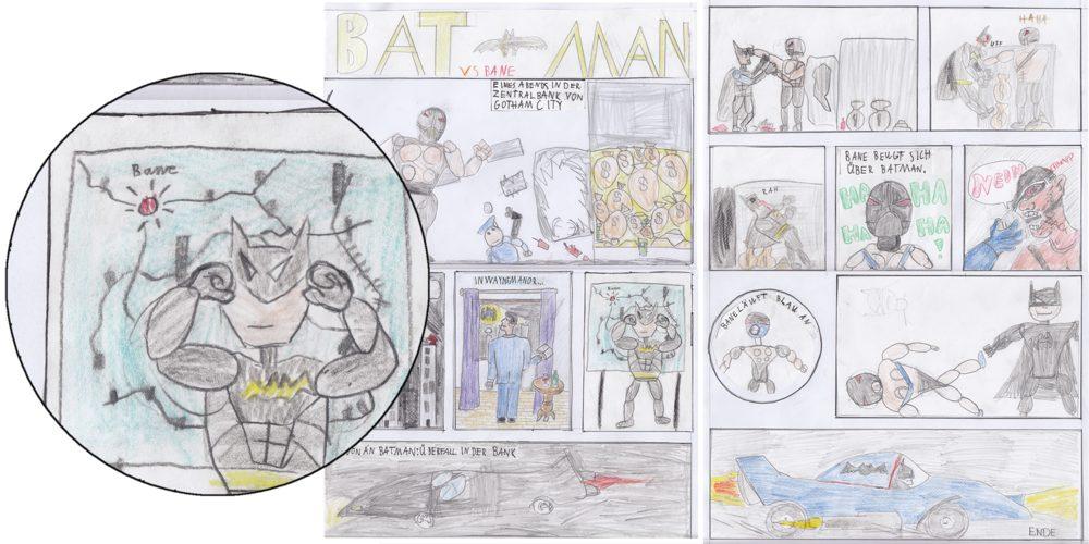A batman comic drawn by kids (well, mostly)