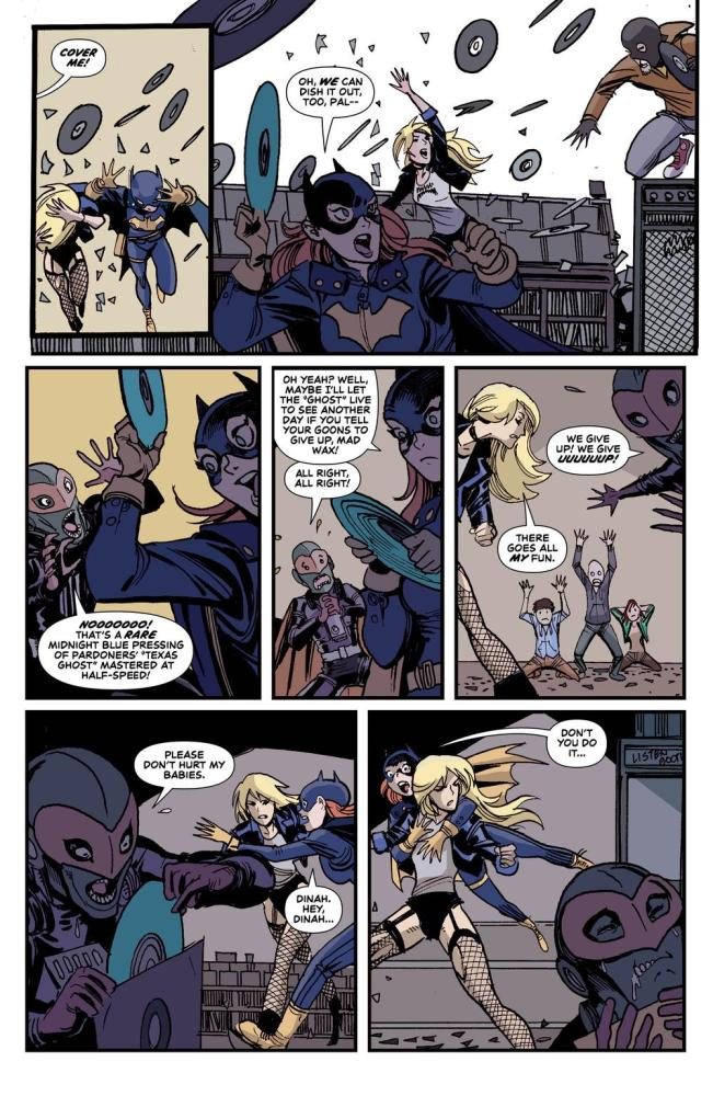 Batgirl and Black canary enjoy themselves, from Black Canary #10, image copyright DC Comics
