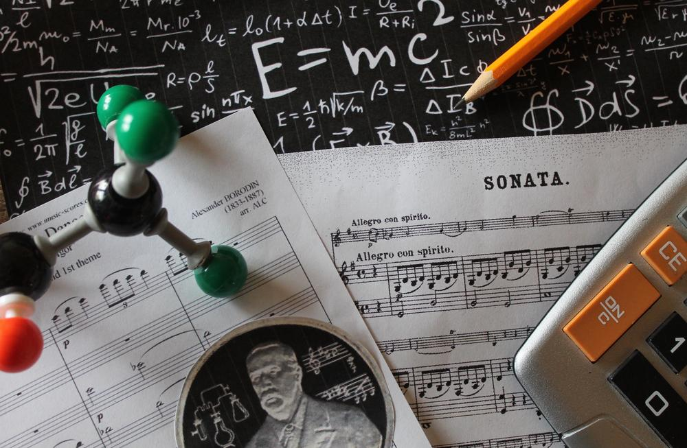 Albert Einstein and Alexander Borodin knew the importance of being inspired by both music and science. All images by Lisa Kay Tate.