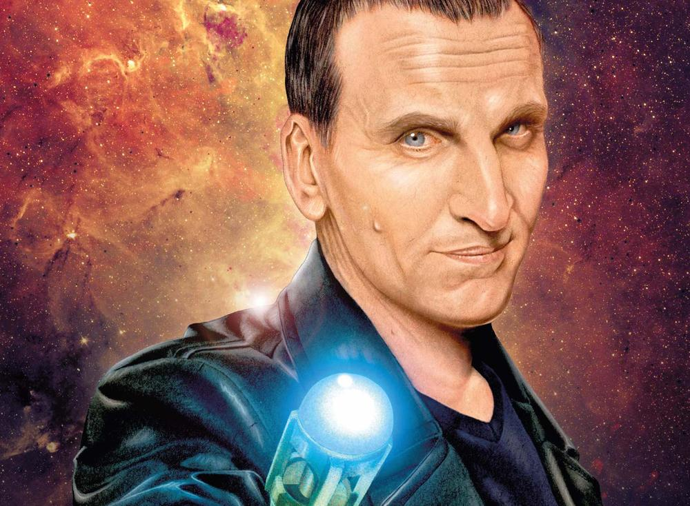 Due to popular demand, the Ninth Doctor now joins his later incarnations in the privilege of having his own ongoing comic series. Art by Shea Standefer courtesy of Titan Comics.