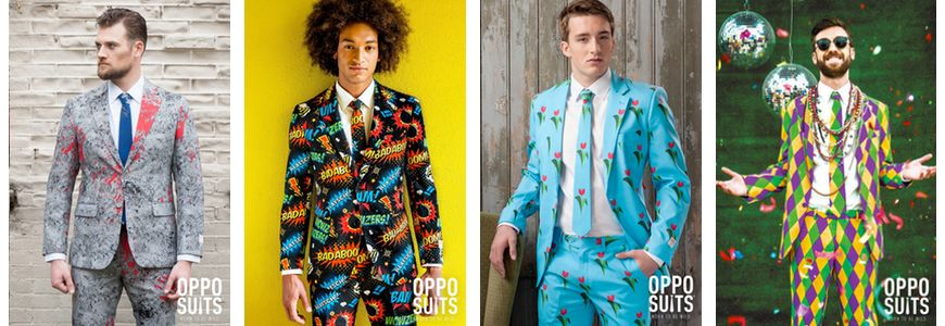 A collection of suits from OppoSuits.