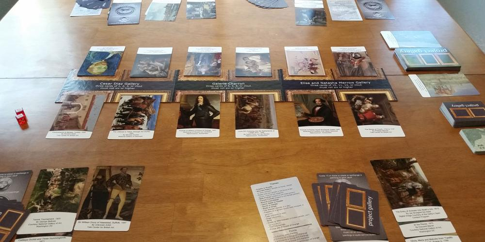 Project Gallery prototype set up and ready to play. Photo by Rob Huddleston.