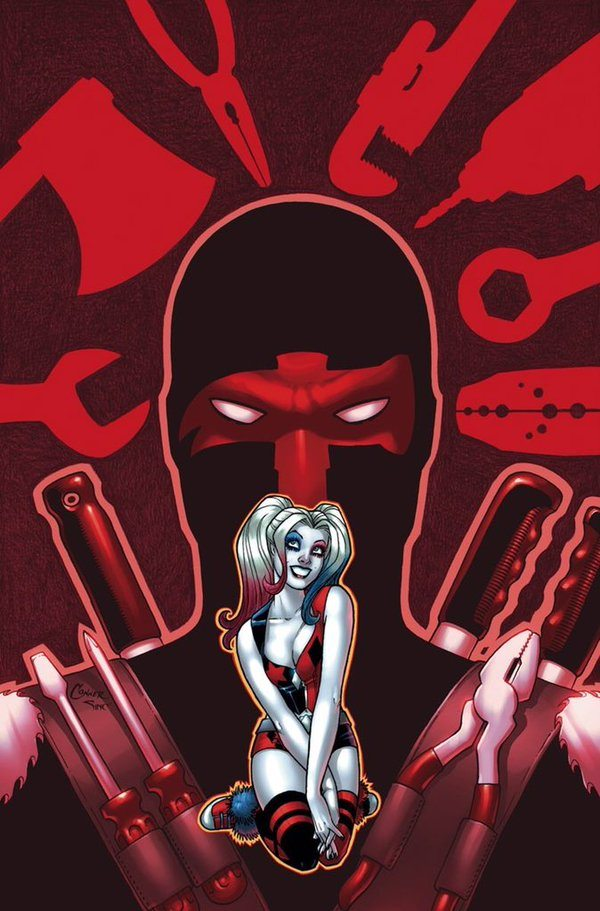 Red Tool and Harley Quinn, copyright DC Comics