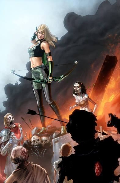 Robyn Hood Annual \ Image used with permission from Zenescope. Art credit: Larry Watts