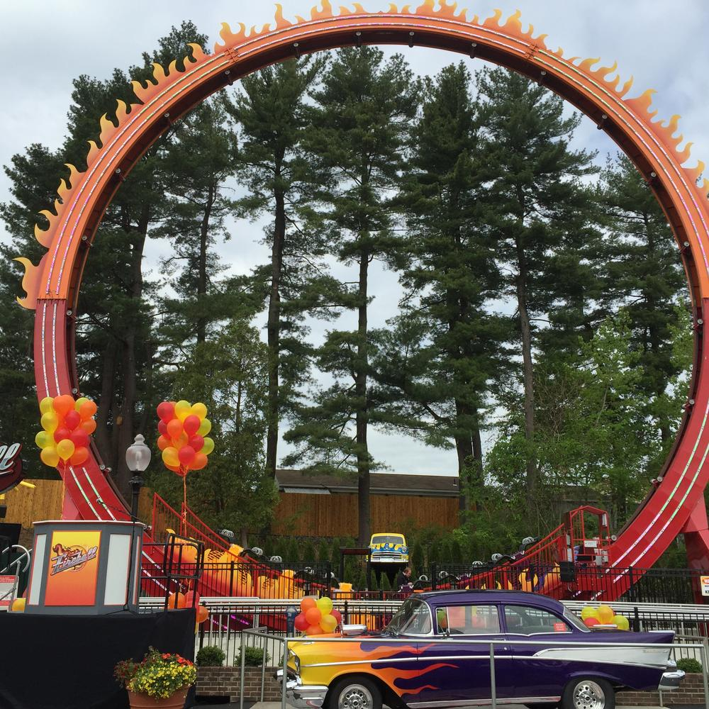 The Fireball at Six Flags New England, photo by Corrina Lawson