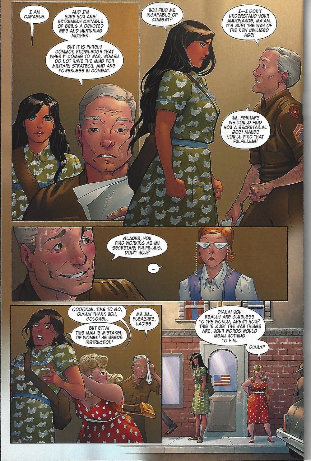 """Wonder Woman doesn't like being told 'no."""" :) from Legend of Wonder Woman, copyright DC Comics."""