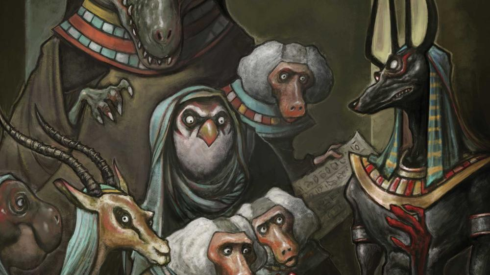 Liew's Egyptian gods, image via DC Comics