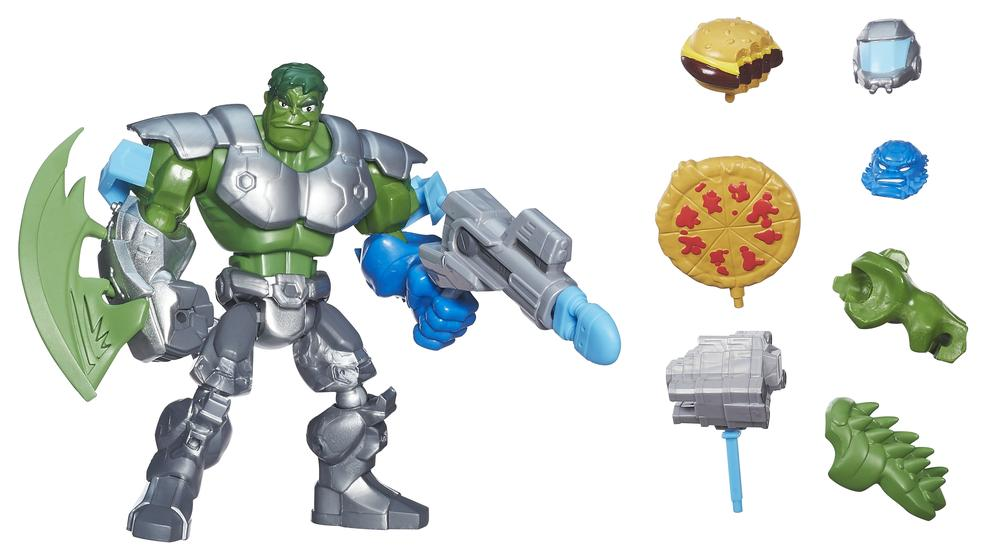 """""""Why does the Hulk come with a burger and pizza?"""" """"Better question: Why don't the others?"""""""