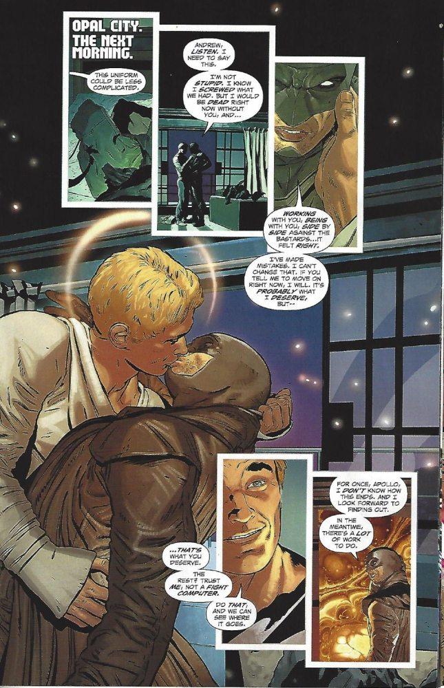 Midnighter and Apollo reunited. Image via DC Comics.