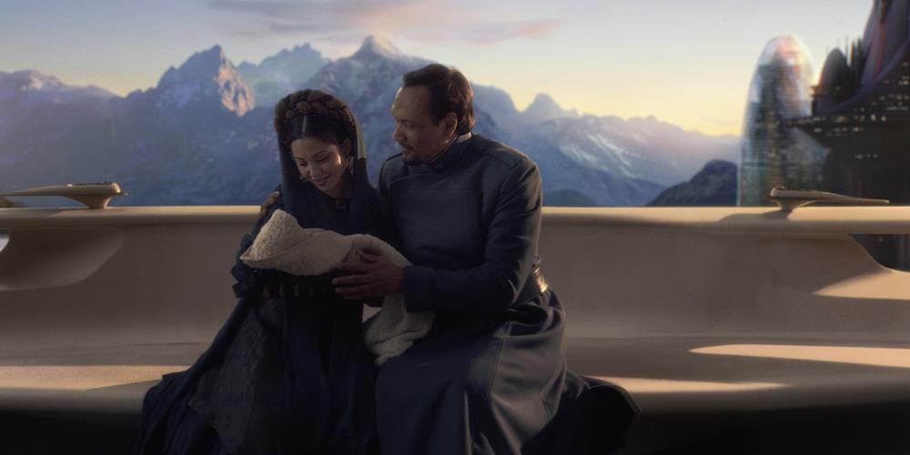 Bail and Breha Organa with Baby Leia