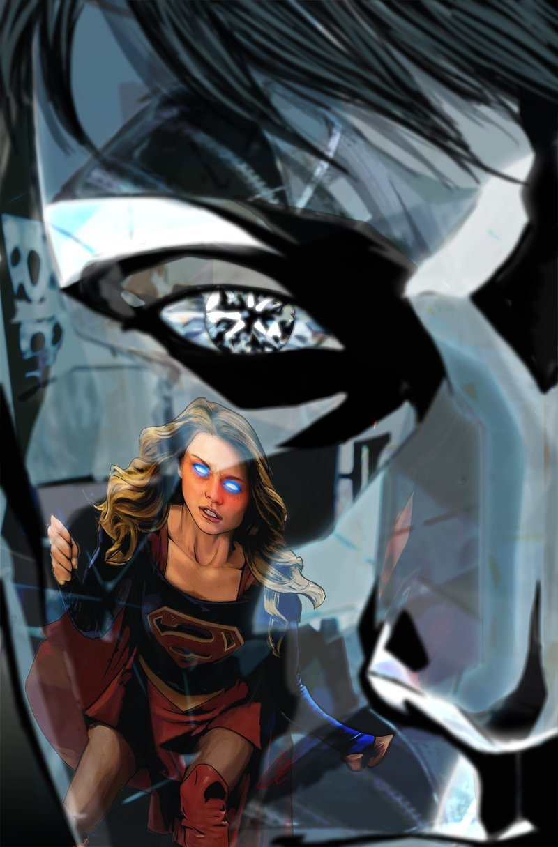 Adventures of Supergirl #4 cover, copyright DC Comics