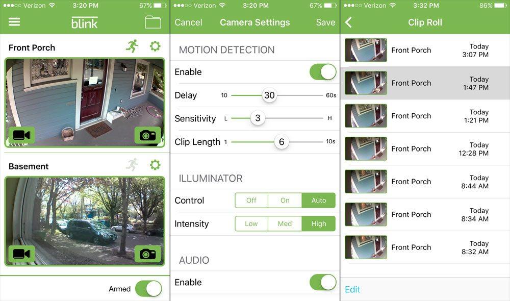 Blink app screenshots