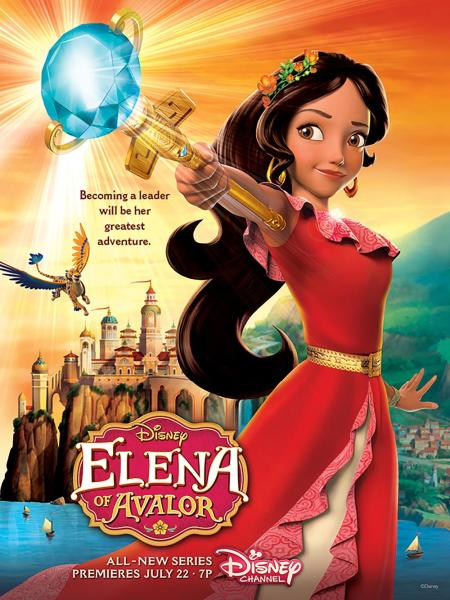"""ELENA OF AVALOR - Princess Elena of Avalor will make her royal debut in the highly anticipated animated series """"Elena of Avalor,"""" with a one-hour premiere event FRIDAY, JULY 22 (7:00-8:00 p.m., EDT), on Disney Channel. (Disney Channel)"""