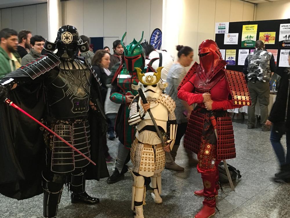 Family Cosplay of Star Wars Samurai