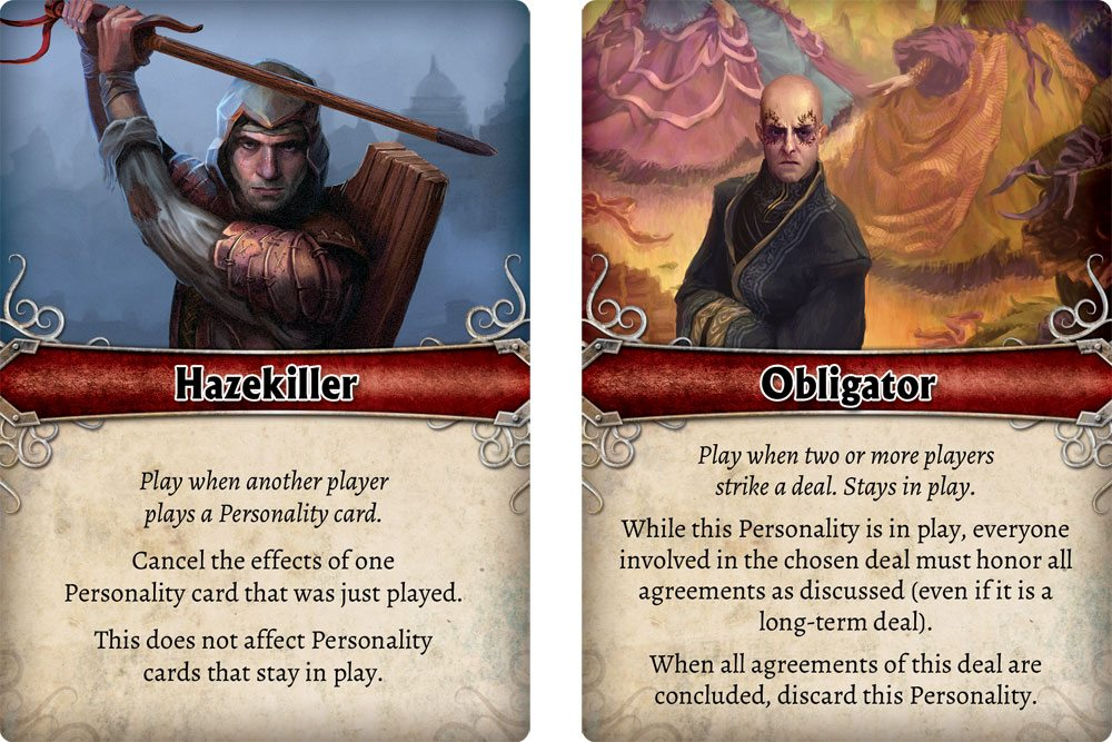 Mistborn Personality cards
