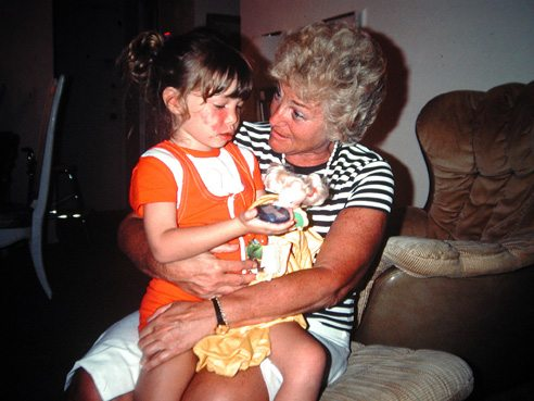Me at 5 with my grandmother, queen of questions