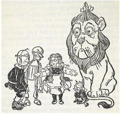 Some people have more than one Designated Grown-Up. Illustration by W.W. Denslow, public domain
