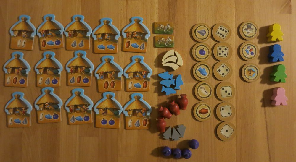 The game materials of 'My First Stone Age'.