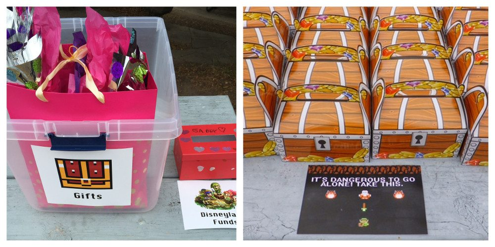 Zelda party gifts and goodie bags. Image credit: Ariane Coffin.