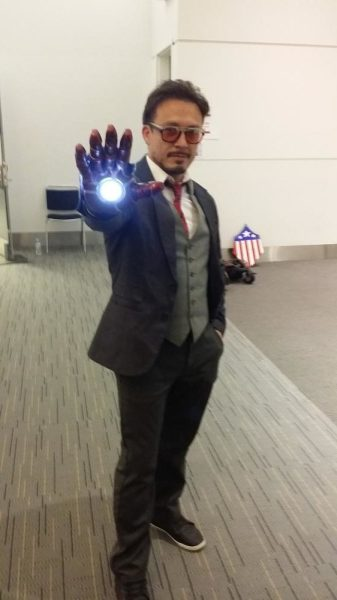 Wait! RDJ is that really you? Nope. Tony Stark cosplay: Billy Benavidez. Funny story: Someone thought Billy was actual Robert Downy, JR, and asked for his autograph. Billy kindly played along. Thanks for being awesome, Billy!
