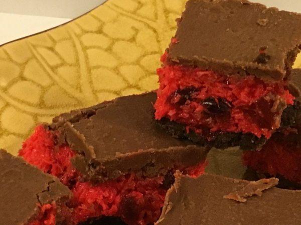 Comfort Food Cherry Ripe Slice