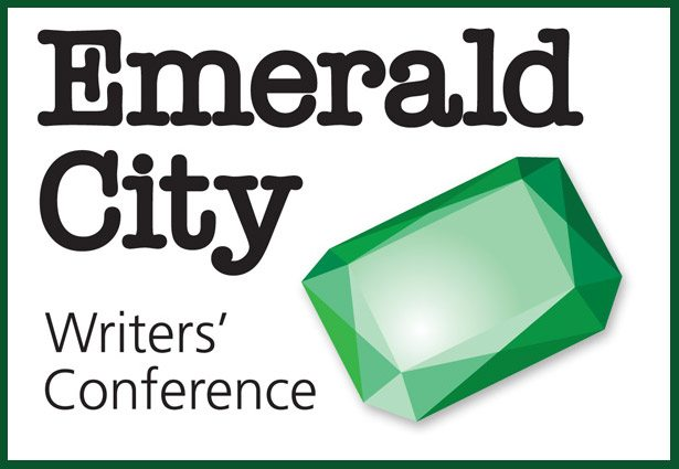 Logo for the Emerald City Writer's conference by the Emerald City RWA in the Seattle Area.