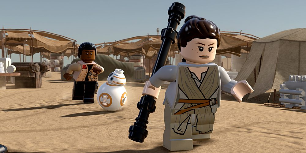 Finn, BB-8, and Rey, Image: WB Games