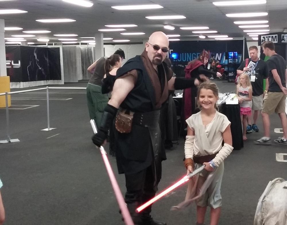 Light saber training with New York Jedi.