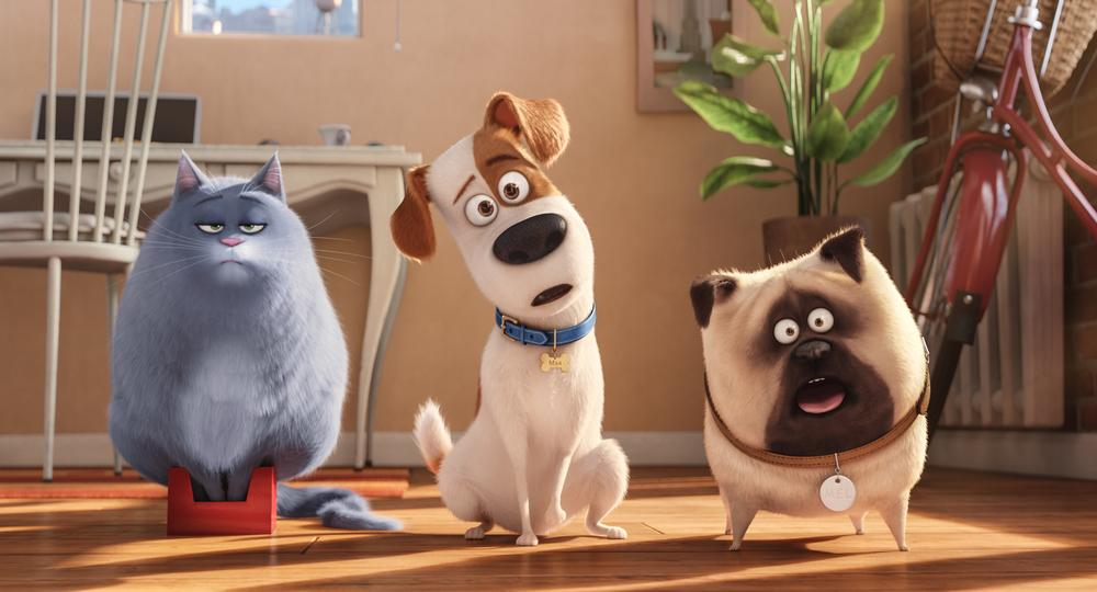 Max and his friends, from 'The Secret Life of Pets'