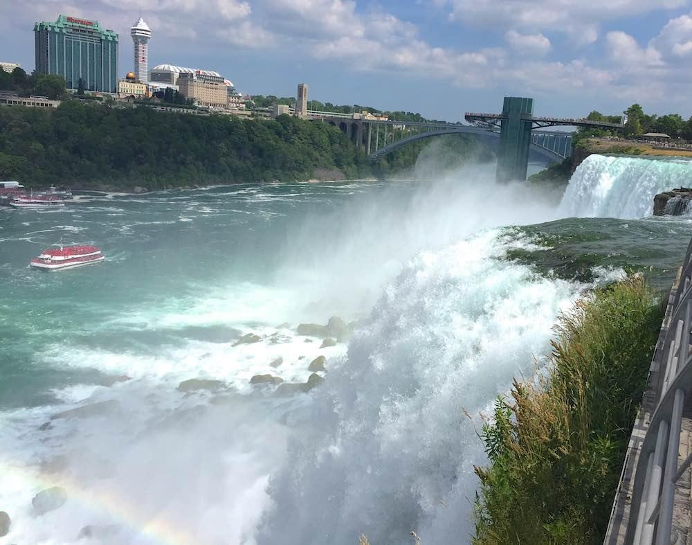 Close enough to touch Niagara Falls