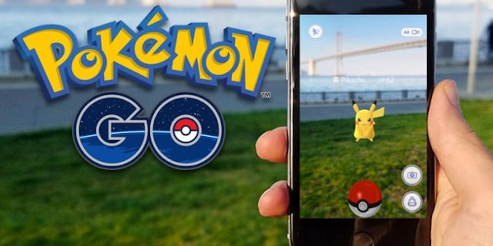 Pokémon GO with augmented reality Pokémon GO with augmented reality