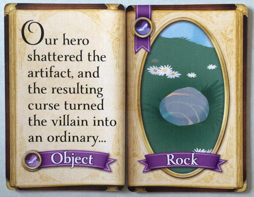 A Narration Card plus a Story Card form the look of an open book. Photo: Jenny Bristol