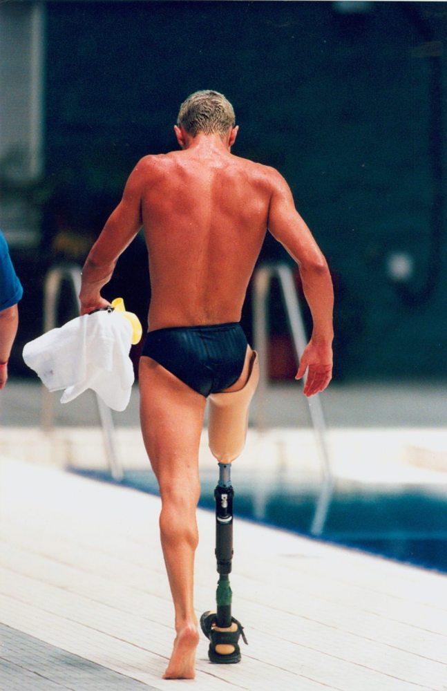 Austrailian swimmer Brendan Burkett at the Atlanta Paralympic Games. Photo: Wikipedia Commons