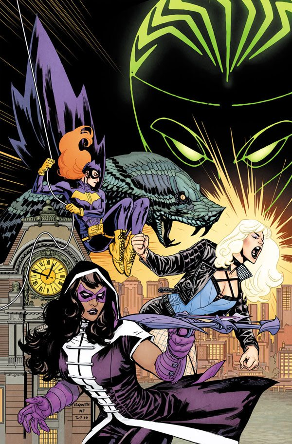 The cover was the best part of Batgirl & the Birds of Prey. image via DC Comics