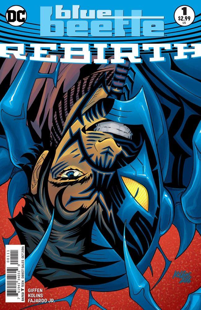 Cover to Blue Beetle, image via DC Comics