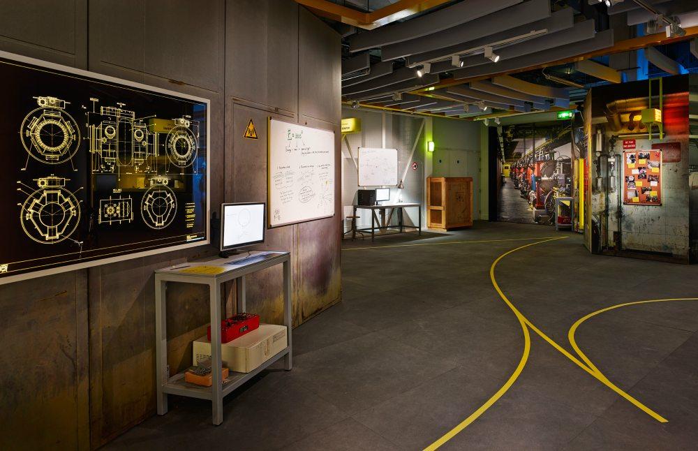 Collider Exhibit Hallway