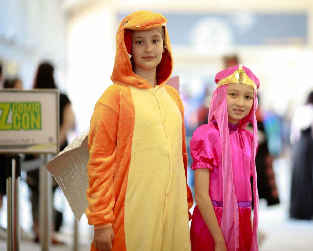 Kids Cosplay Princess Bubblegum and Charmander